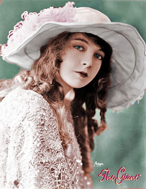 Lillian in costume for ORPHANS OF THE STORM (1921) colorized  Lillian Gish