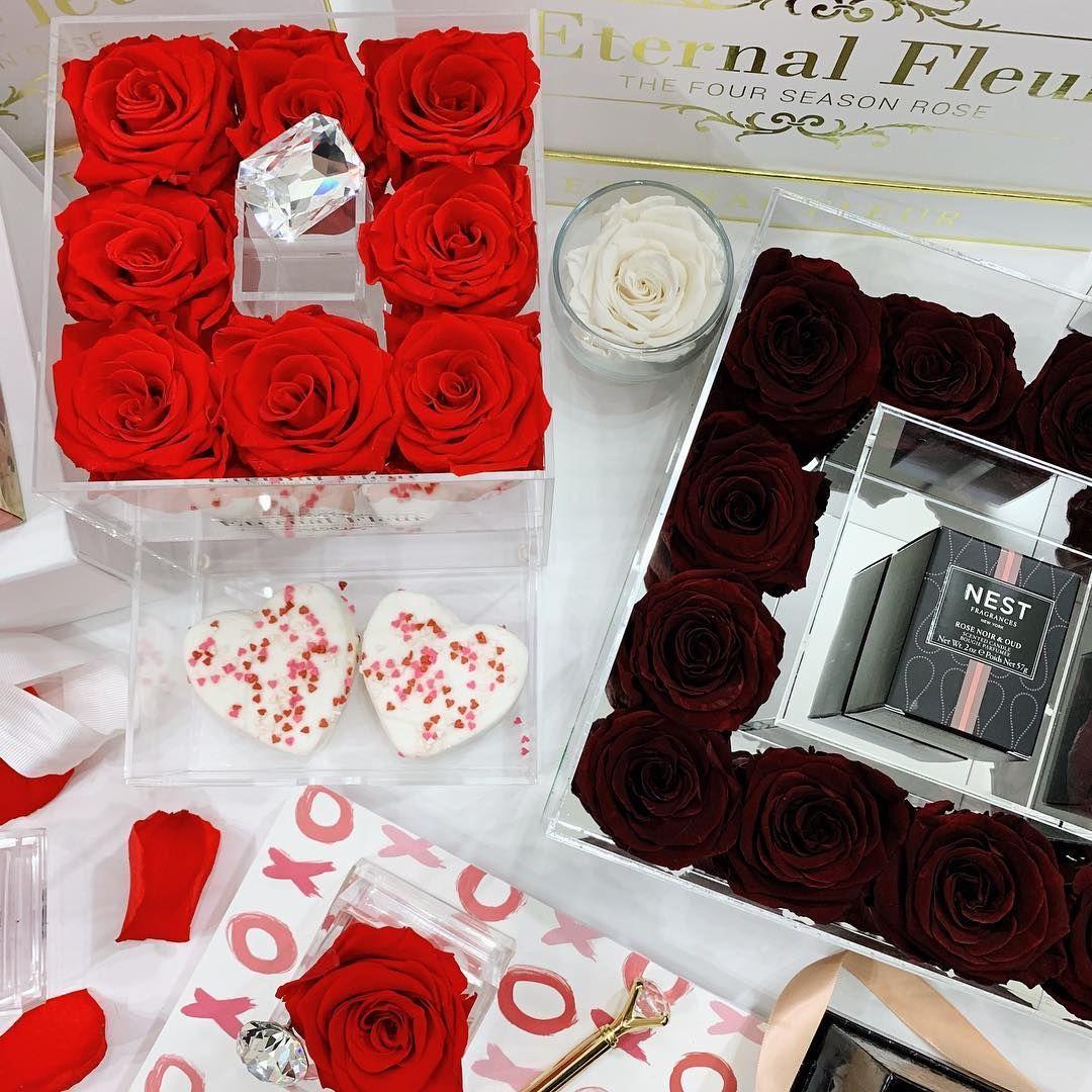 Rosenbox Infinity Eternal Rose Box Heart Rose Heart Wedding Anniversary Gift