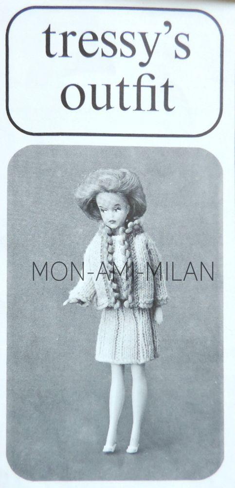 "Knitting//Crochet Pattern Copy Fashion Doll Barbie Sindy Tressy DOLLS CLOTHES 12/"""
