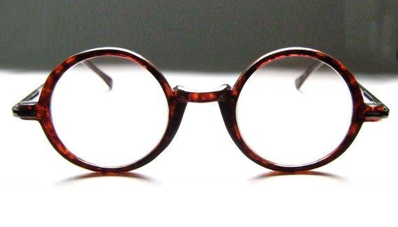 Vintage 80 S Round Tortoise Eyeglass Frames Eyeglasses Men