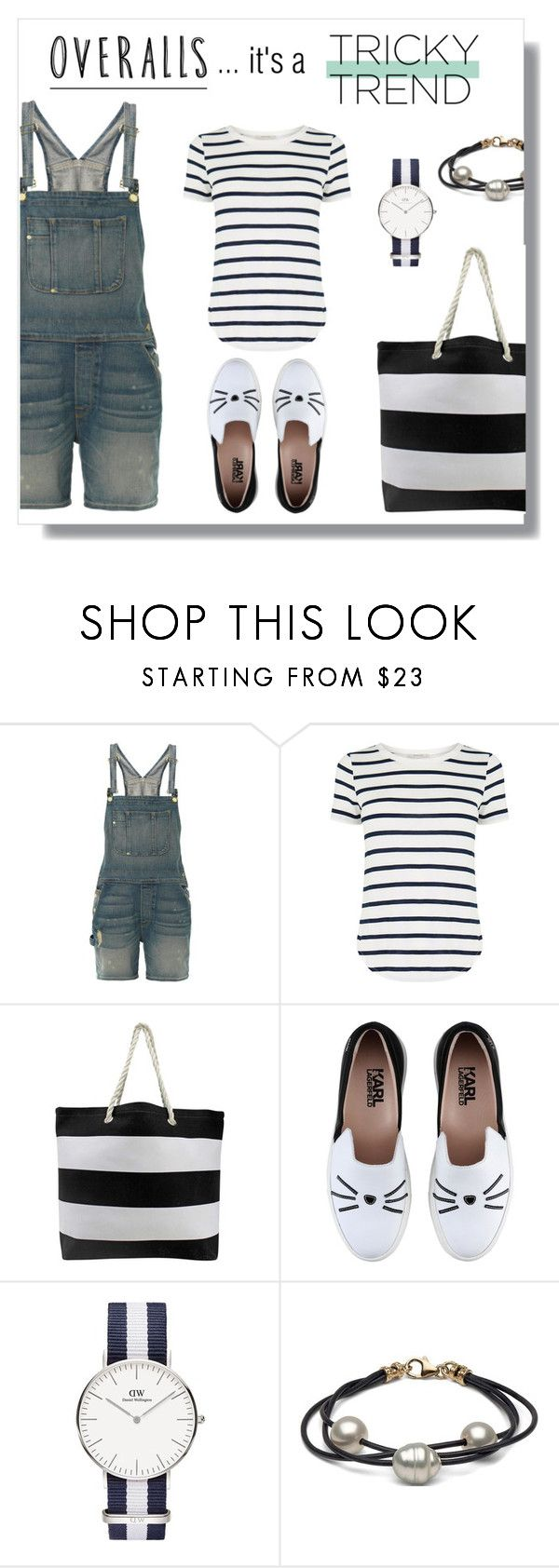 """""""Tricky, tricky trend... the overalls"""" by beautifulgirlsblog on Polyvore featuring Frame Denim, Oasis, Karl Lagerfeld, TrickyTrend and overalls"""