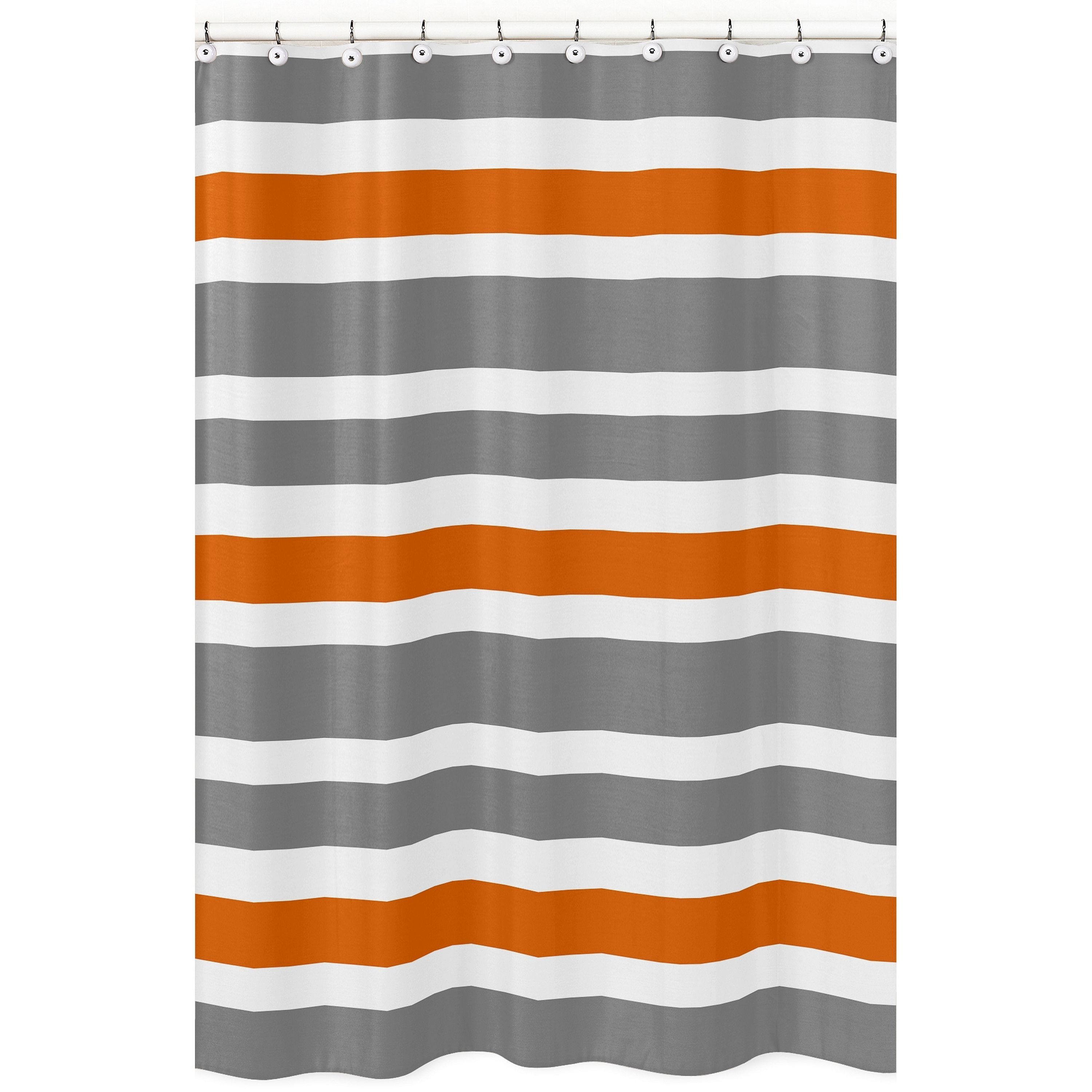 grey and orange shower curtain. Give Your Bathroom A Makeover In Minutes With This Orange  Grey And White Stripe