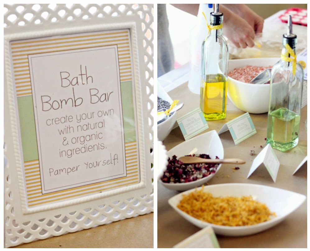 My Recent Party Planning-Pamper the Mommy Baby Shower | Bath bomb ...