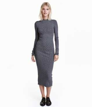 76a2889525f Ribbed Jersey Dress