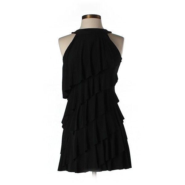 Pre-owned White House Black Market Casual Dress ($23) ❤ liked on Polyvore featuring dresses, black, white house black market, preowned dresses, white house black market dresses, black dress and kohl dresses