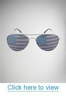 American Flag Silver Aviator Sunglasses #American #Flag #Silver #Aviator #Sunglasses