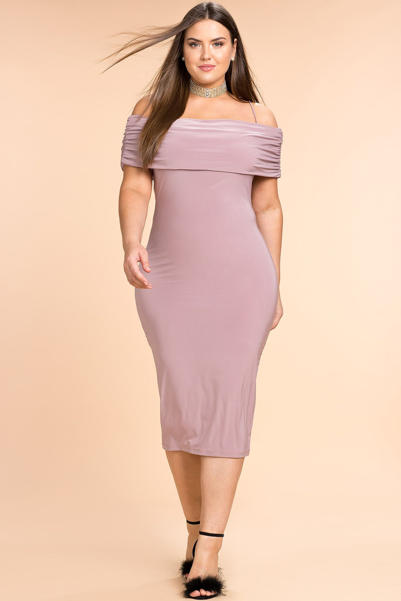 Plus dress off size dresses bodycon long shoulder