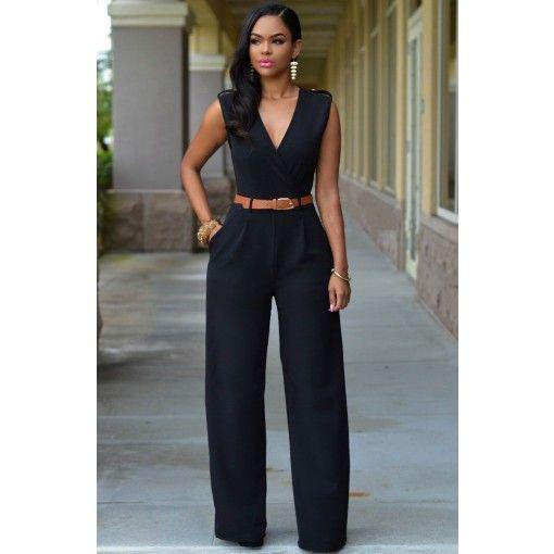 Welp Girlmerry Own Produce: High Quality Good Fabric V Neck Capri Black FY-77