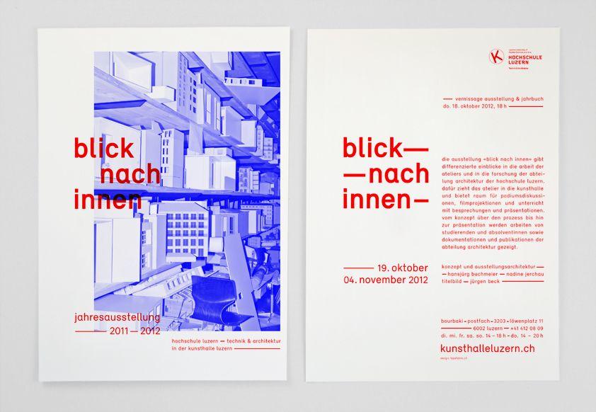 Blick nach Innen - Kunsthalle Luzern und Hochschule Luzern - Technik und Architektur. Grafik für Einladungskarte und Plakate
