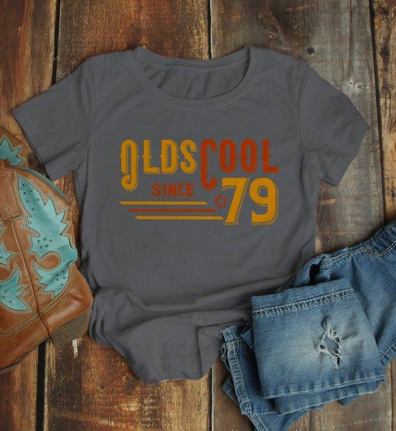 dc51c2170 Women's Vintage T Shirt 1979 Birthday Shirt Olds Cool 40th Birthday Tee  Retro Gift Idea Vintage