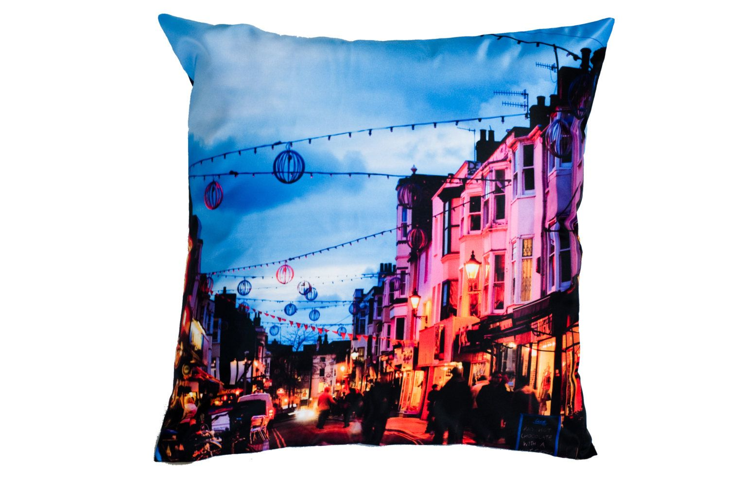 Modern Vibrant City Street Cushion Cover Modern Home Decor Pillow Case by SkatingInspirations on Etsy https://www.etsy.com/listing/206006762/modern-vibrant-city-street-cushion-cover