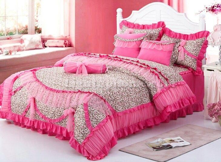 Full Size Bedding For Girls | ... Ruffled Bowtie Bedding Girls Lace Bedding  Full Queen King Bedding