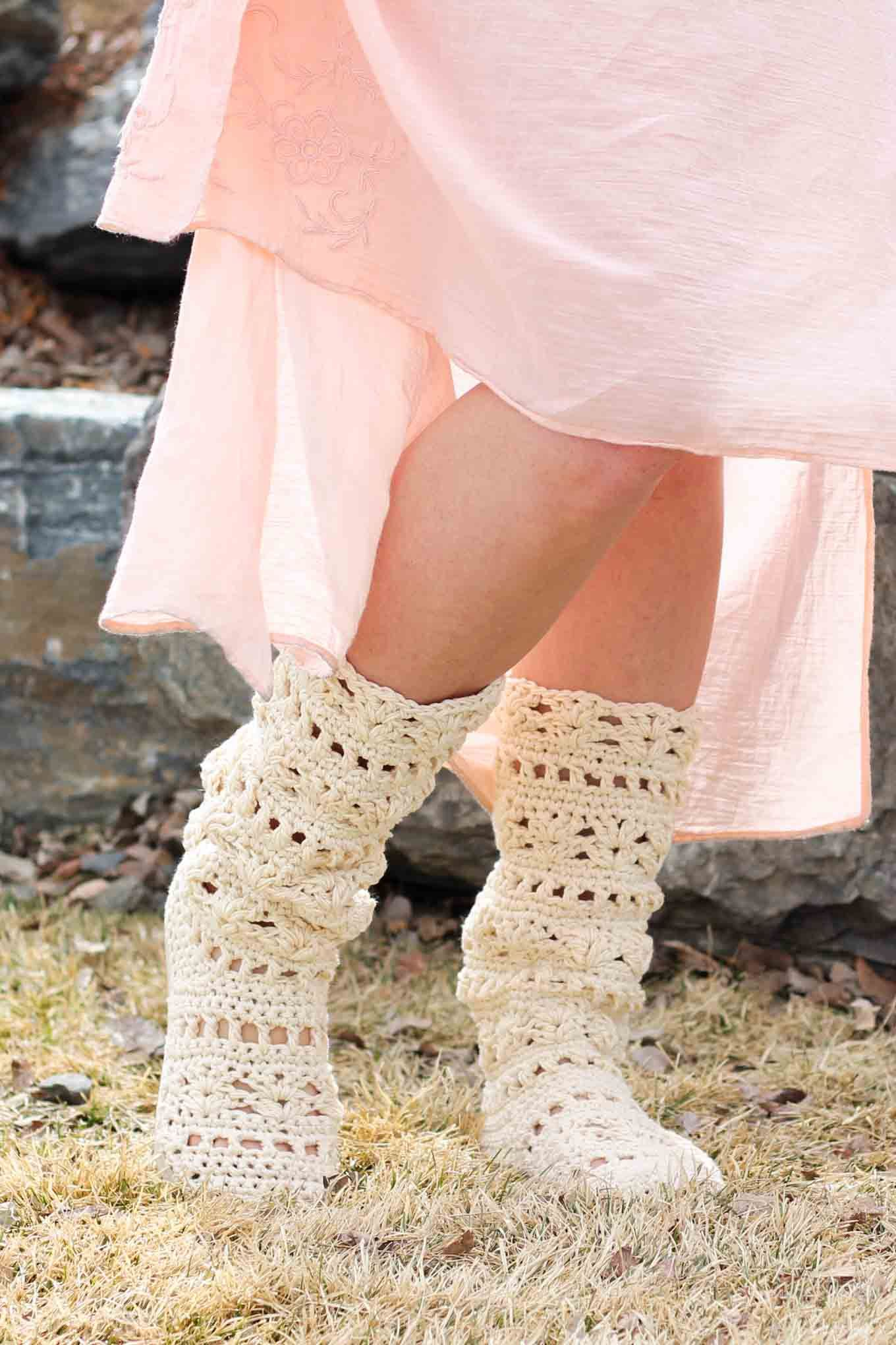 Lacy Crochet Boots Pattern For Adults (Made with Flip ...