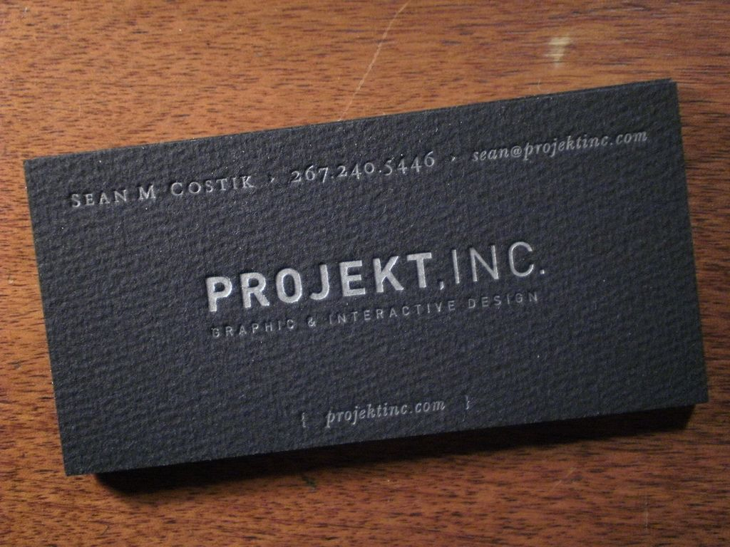 Black Letterpress Business Cards On German Etching Stock Printed