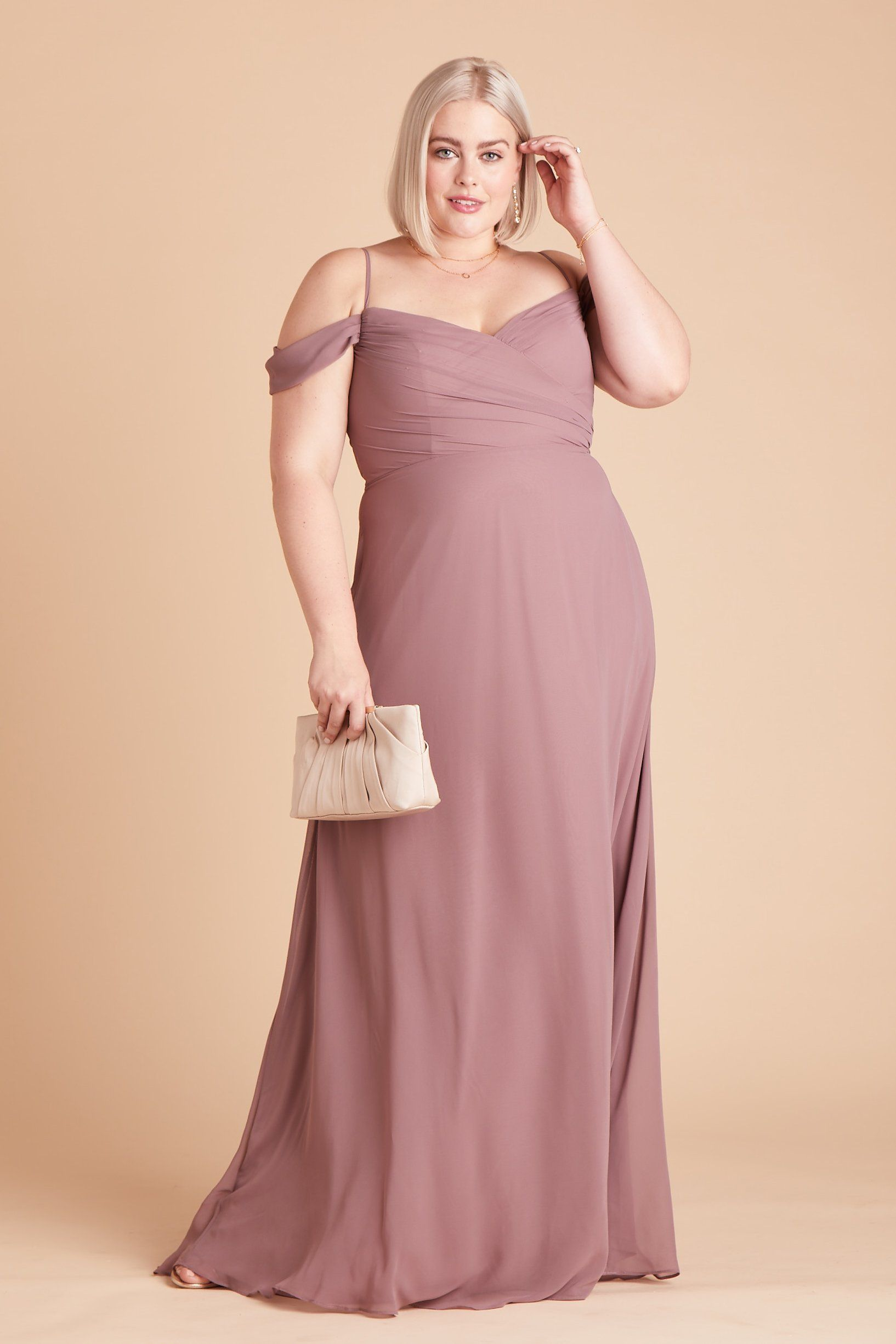 Spence Convertible Dress Curve Dark Mauve in 2020