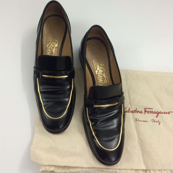 Salvatore Ferragamo Metallic Round-Toe Loafers discount tumblr free shipping official online for sale AdAjxJOmXj