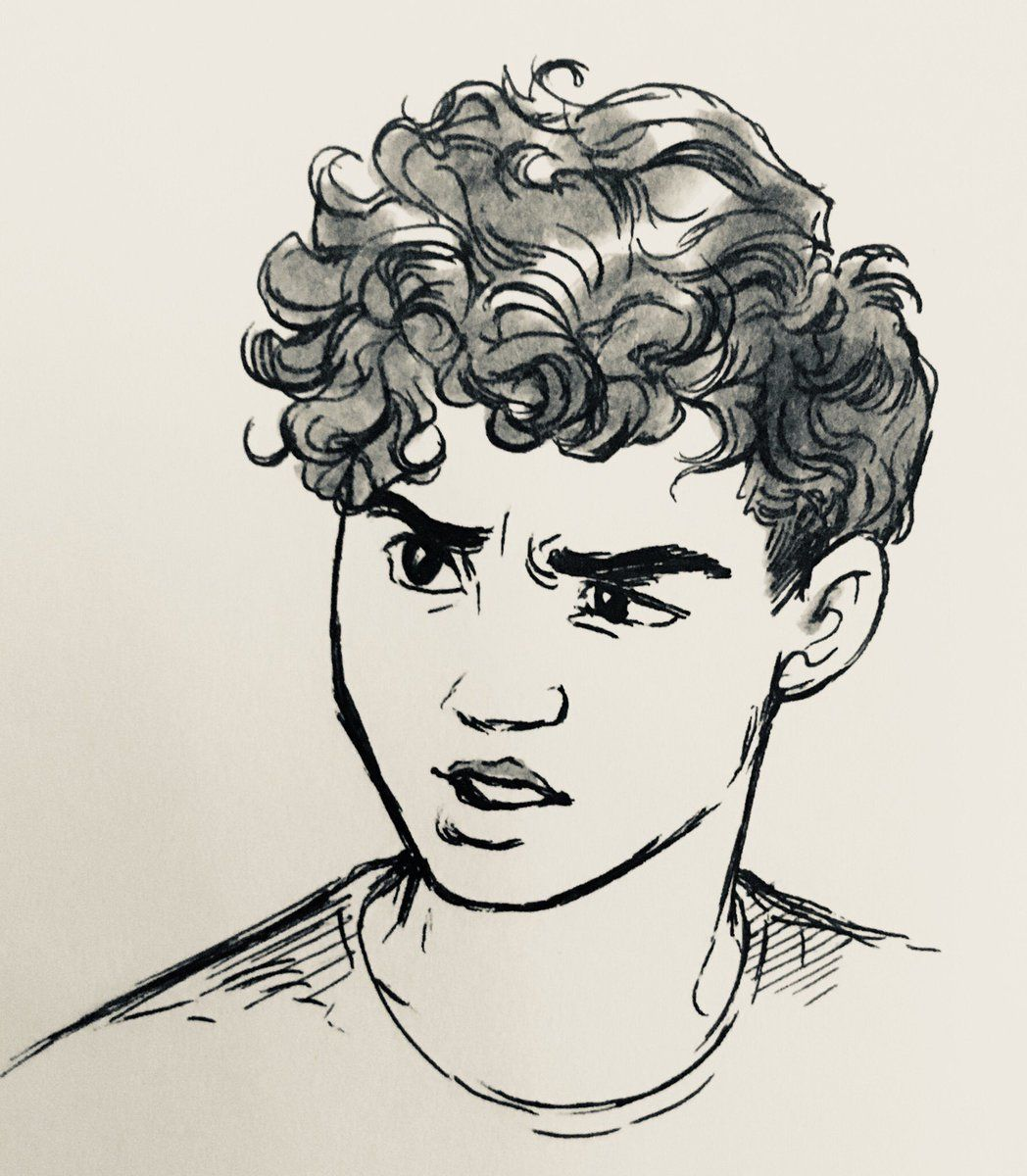 Bev Johnson On Twitter Boy Hair Drawing Hair Illustration Curly Hair Drawing