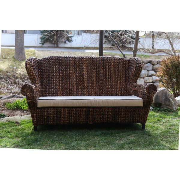 Somette Rattan Indoor/ Outdoor Rolled Arm 3-seat Sofa (Philippines ...