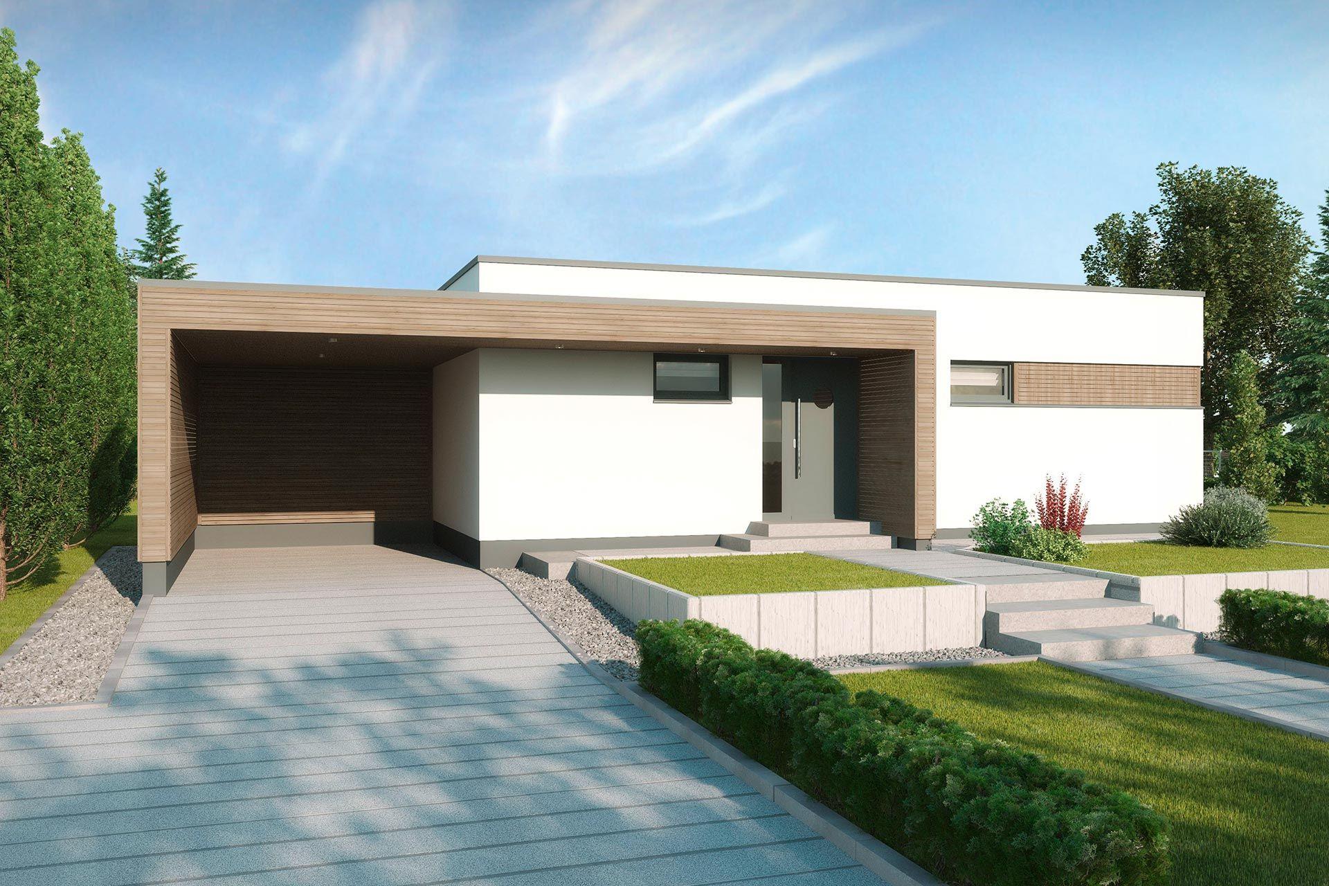Modernes holzhaus flachdach  Bungalow | Moderne Häuser | Pinterest | Moderne häuser ...