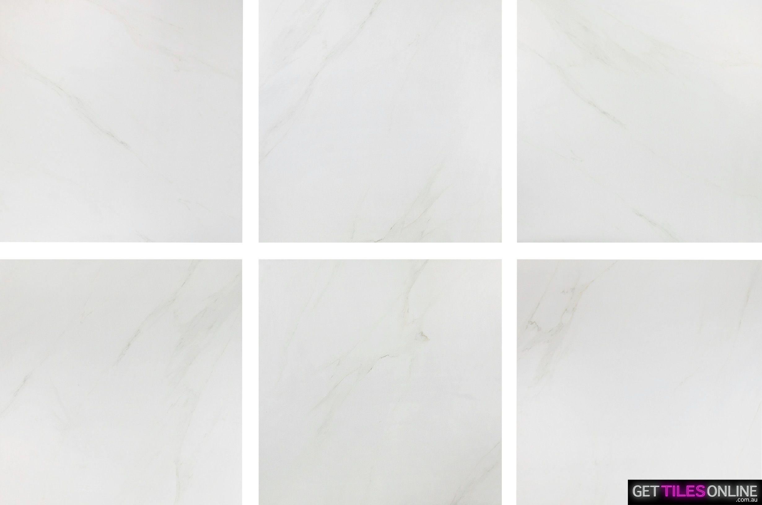 Cheapest Carrara Look Porcelain Tile 600x600 - $15/m2 | Get Tiles ...