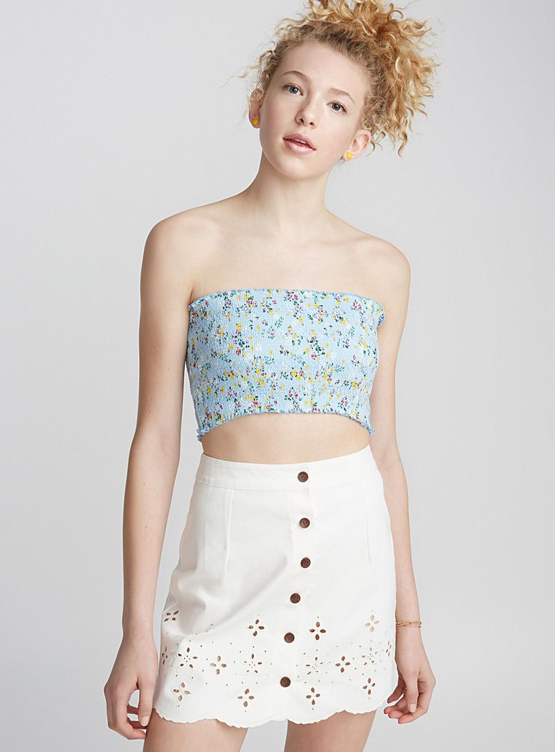Twik embroidered mini skirt