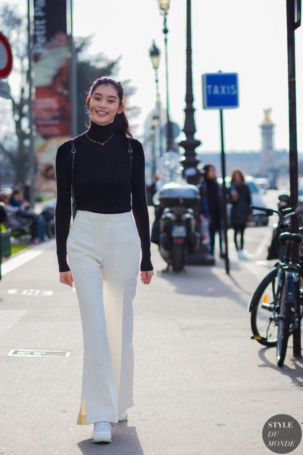 4859f535dc22 Haute Couture Spring 2016 Street Style  Ming Xi