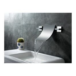 Wall Mounted Bathroom Faucets Sumerain S1248cw Waterfall Mount Sink Faucet