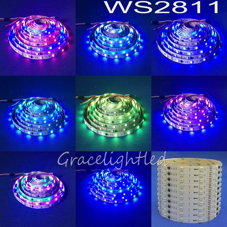 Ws2811 5050 Rgb Led Strip 150 300 Leds 48 60 30Led/M