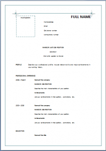 Basic Resume Format Pdf   Http://www.resumecareer.info/basic  Basic Format For Resume