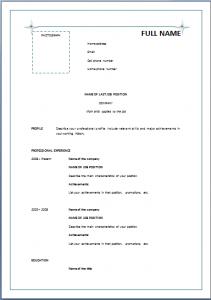 Simple Resume Format Pdf Resume Sample