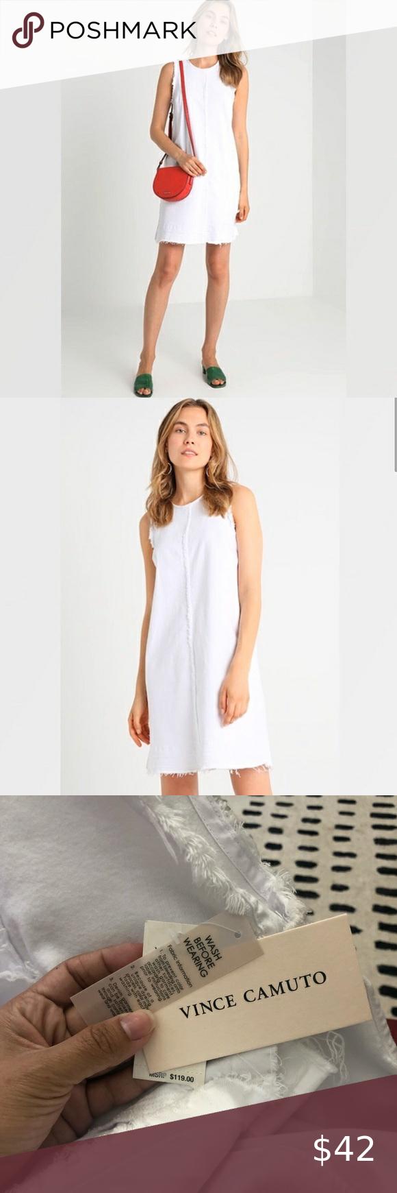 Vince Camuto Frayed White Denim Dress White Denim Dress Denim Dress White Denim [ 1740 x 580 Pixel ]