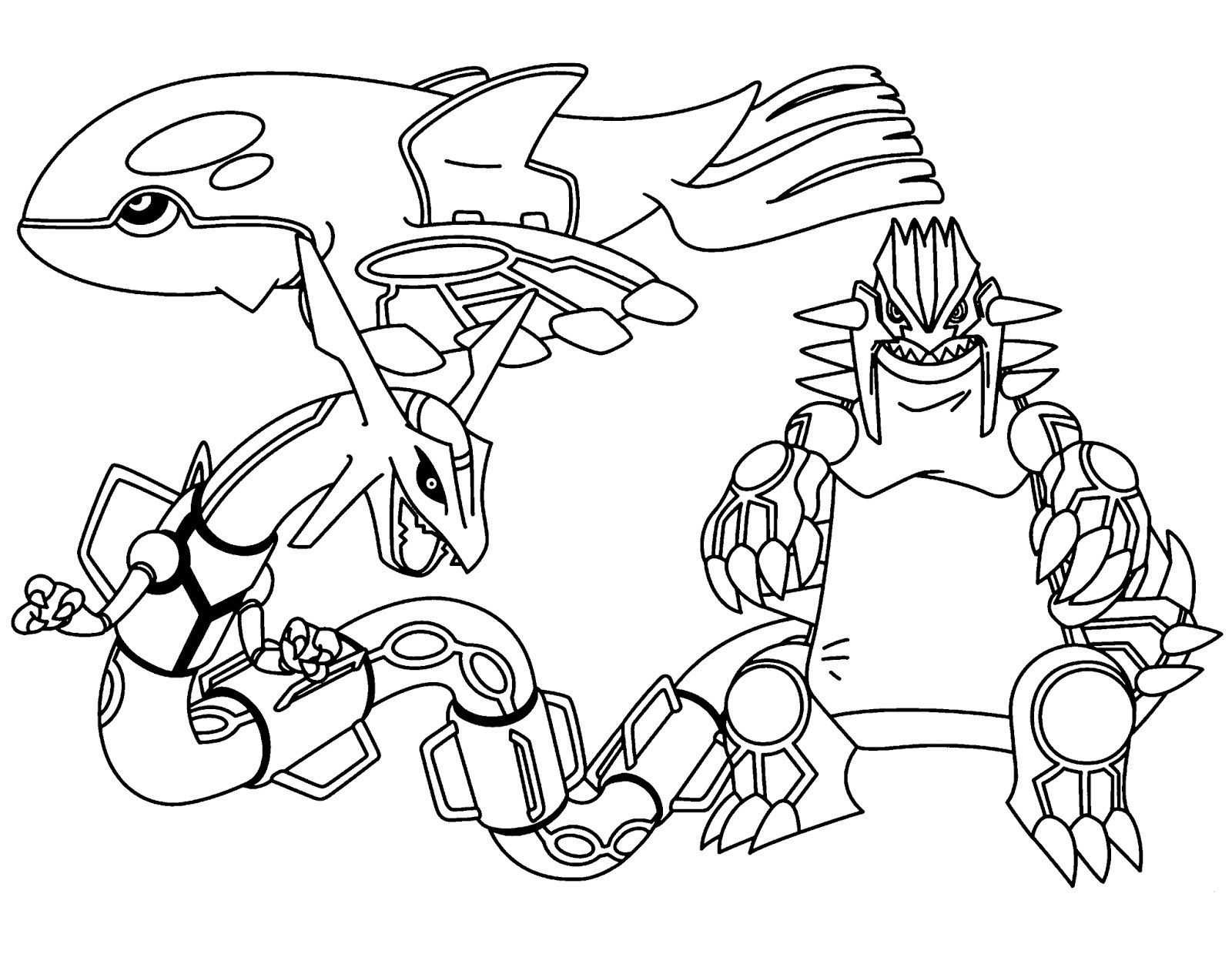 Legendary Pokemon Coloring Pages Rayquaza Through the