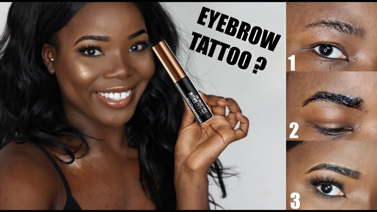 Diy Eyebrow Tattoo Maybelline Brow Tattoo First Impressions