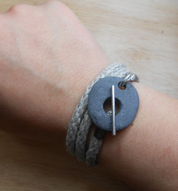 Photo of Beach Stone Jewelry – Rock Wrap Bracelet / Necklace / Anklet – SURF AND TURF
