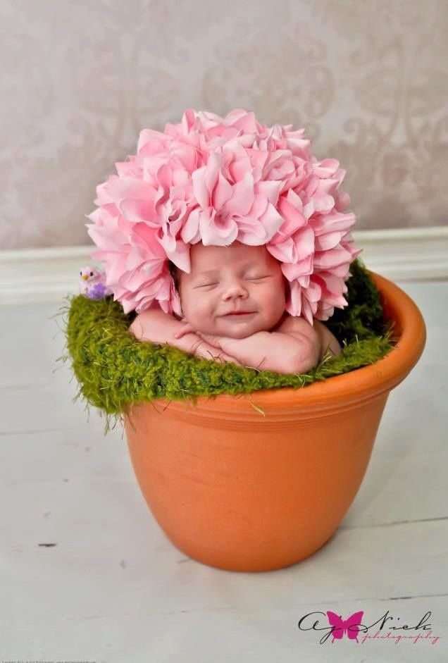 Pink rose cap session prop newborn baby girl infant rose cap photography