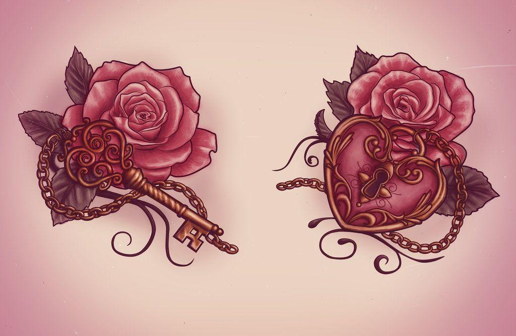 Lock And Key Drawing