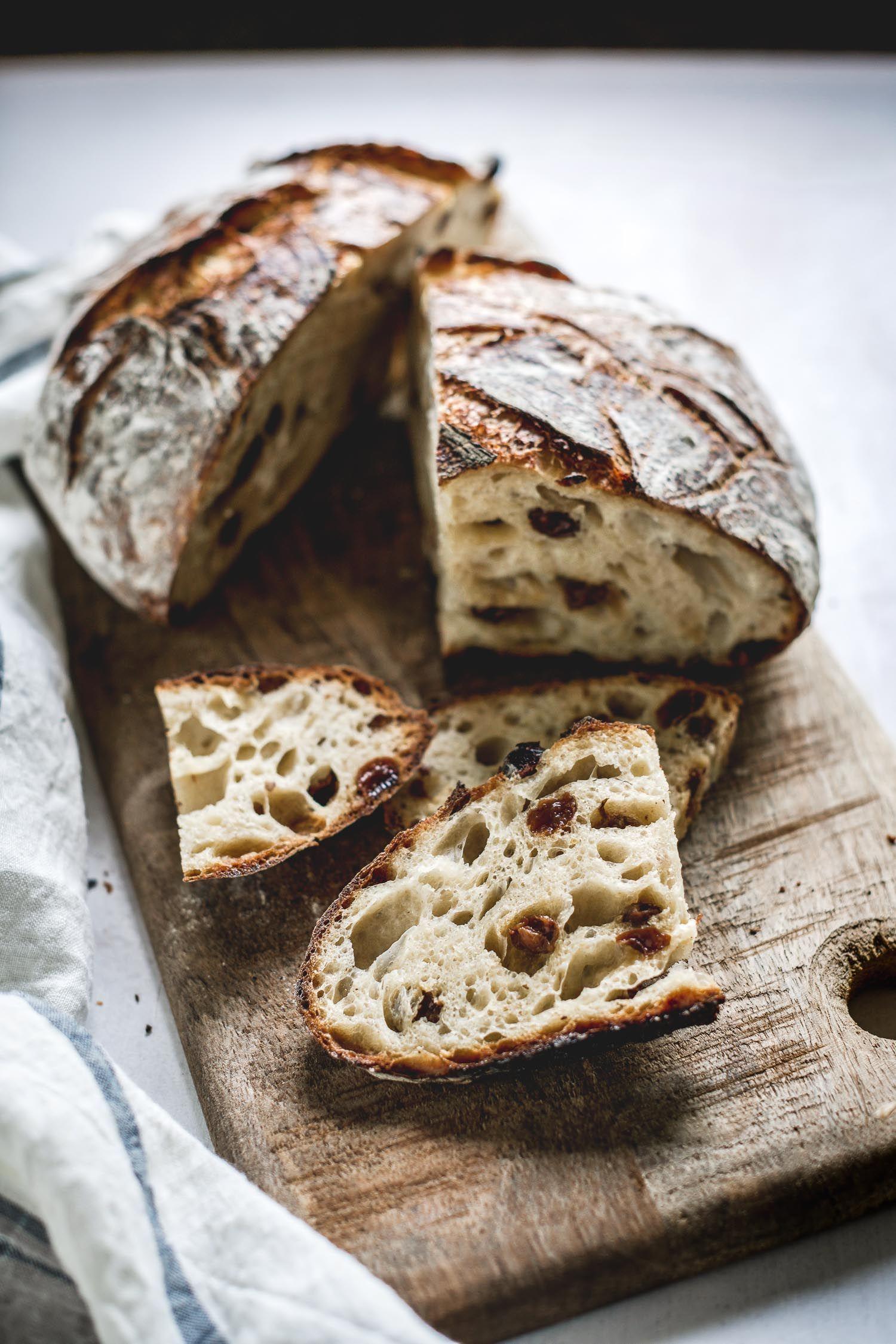Orange-Raisin No-Knead Sourdough Bread | Recipe in 2020 ...