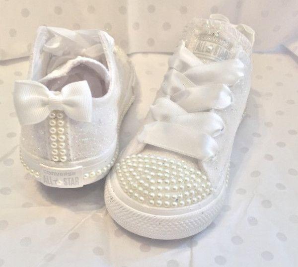 Kids Sparkly White Ivory Glitter