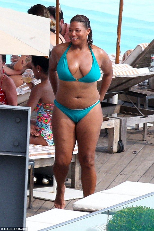 949eb7b099fd1 Her Highness in all her glory: Queen Latifah stripped herself of all her  Hollywood concerns and her clothes in Rio de Janeiro, Brazil, on Tuesday