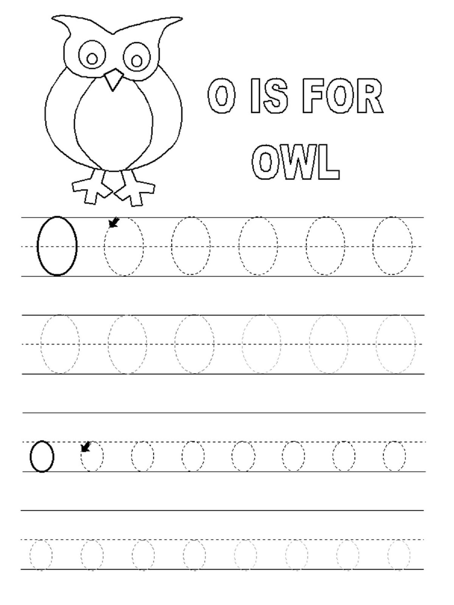 Letter O Worksheet For Alphabet Learning | Dear Joya | Kids Activity ...