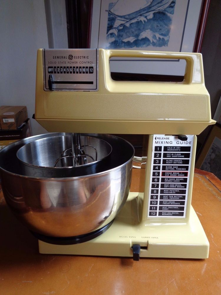 Vintage Ge General Electric Stand Up Heavy Duty Mixer W Bowls Mixer Kitchen Mixer General Electric