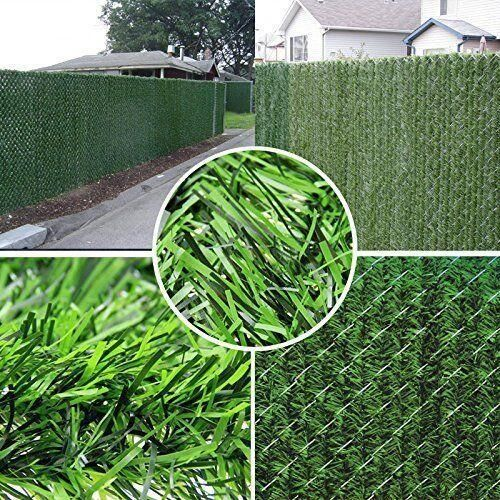 Perfect grass fence for both wooden and iron fence