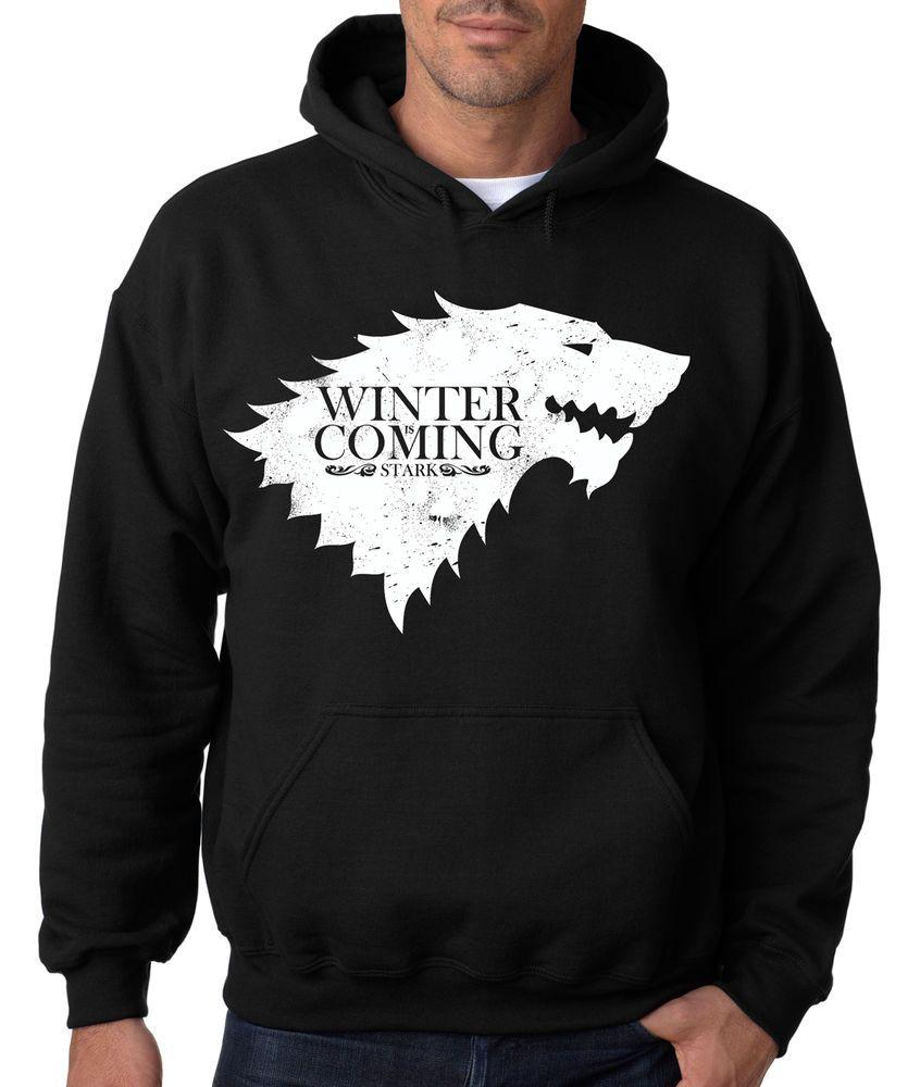 Christmas is Coming Stark Direwolf Sigil Game of Thrones Mens Sweatshirt
