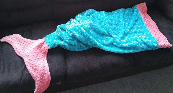 Minky blanket mermaid tails  Blanket minky by KnuffelStuff on Etsy