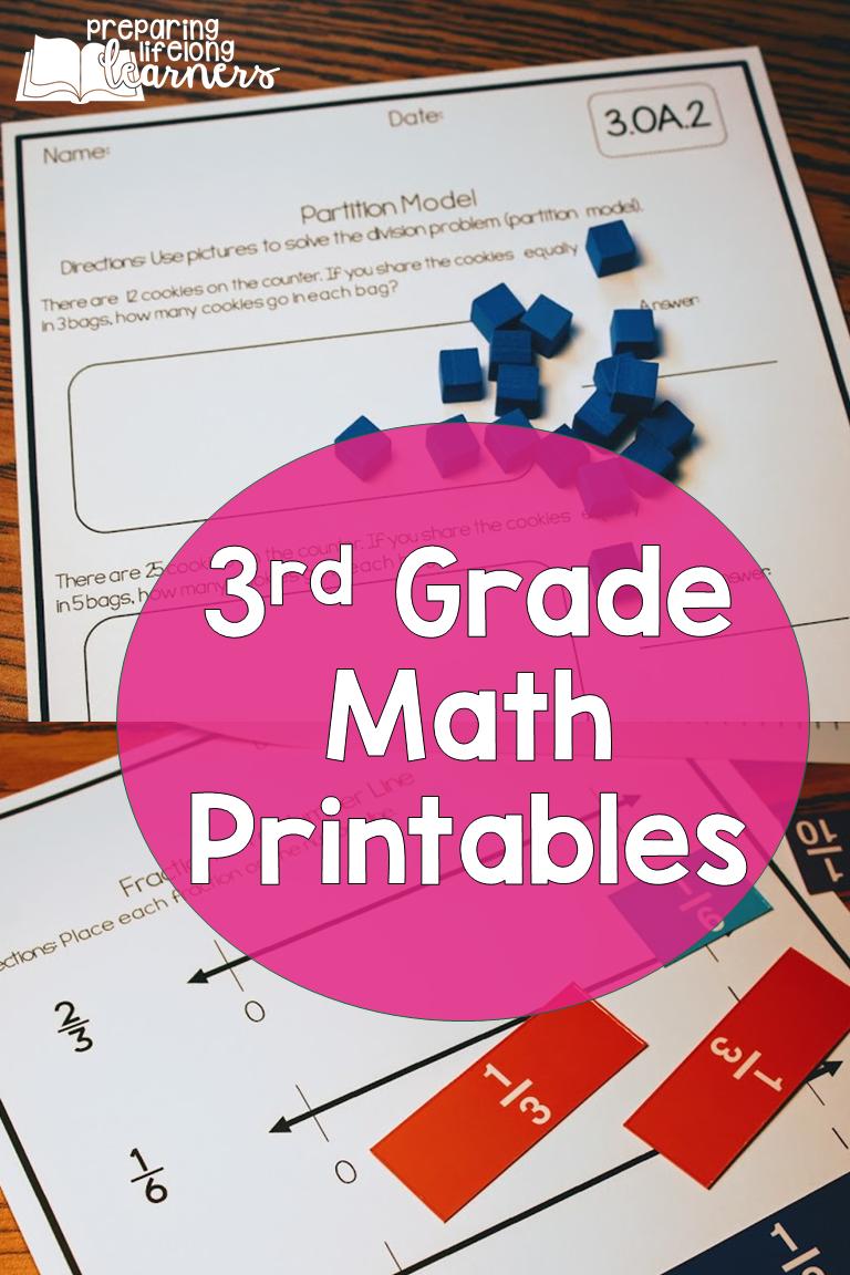 3rd Grade Math Printables Third Grade Common Core Math 3rd Grade Math Math [ 1152 x 768 Pixel ]