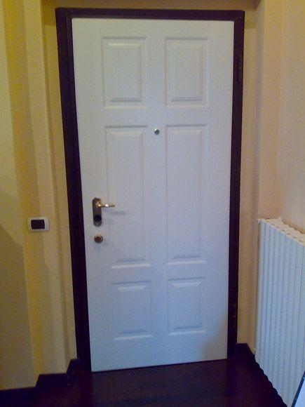 Porta blindata bianca - interno - Fratelli Brivio #door | Porte ...