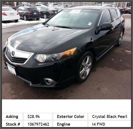 2012 Acura TSX Sport Wagon Base W/Tech Wagon Cruise