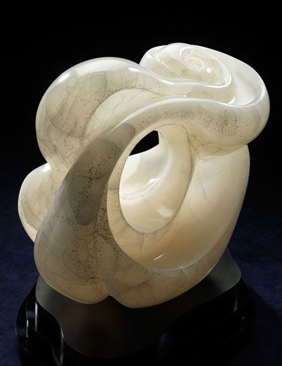 Abstract stone sculptures