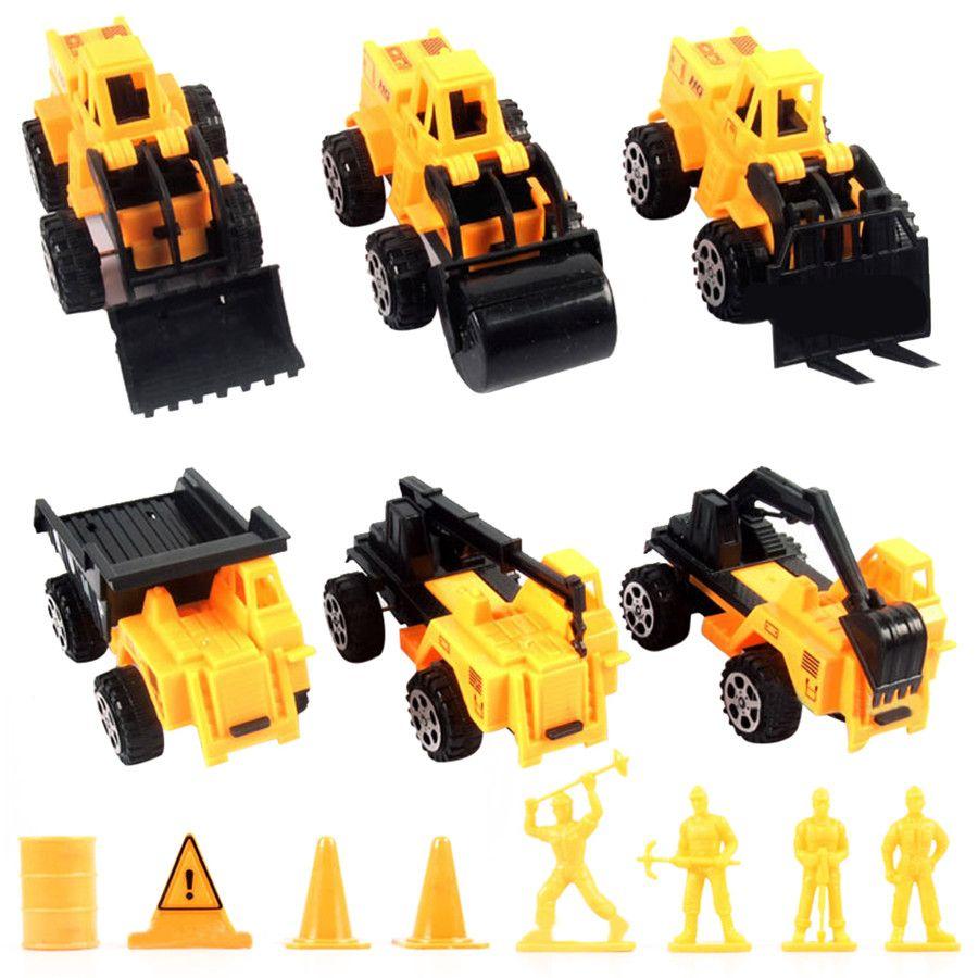 Educational car toys  pcsPack Mini Car Engineering VehicleToys Vehicle Sets Educational