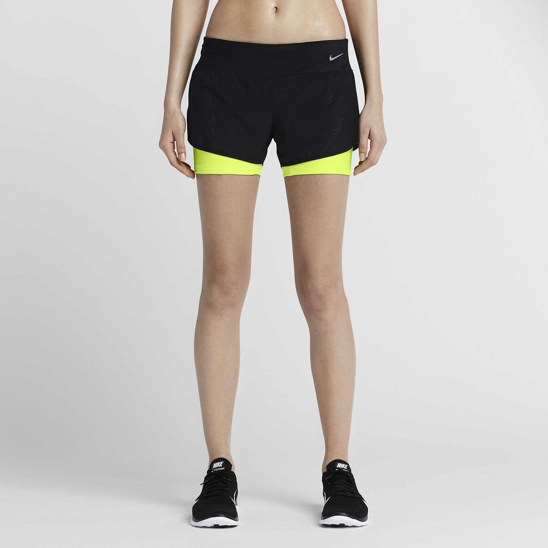 4f718fa459aa8 Short da running Nike 2 Perforated Rival 2-in-1 - Donna. Nike Store ...